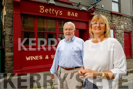 Mary and Sean Fuller in Betty's Bar on Friday.