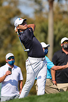 14th March 2021; Ponte Vedra Beach, Florida, USA;  Si Woo Kim of Korea plays a shot on the 14th hole during the final round of THE PLAYERS Championship on March 14, 2021 at TPC Sawgrass Stadium Course in Ponte Vedra Beach, Fl.