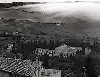"""""""Fog Under Montepulciano""""<br /> Montepulciano, Italy<br /> 2015<br /> <br /> Early morning fog shrouds the hills surrounding Montepulciano<br /> <br /> 4 x 5 Large Format Film"""