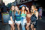 Enjoying the evening in Killarney on Saturday, l to r: Jade Courtney, Mary O'Neill, Ava McCrohan (Kilcummin), Faye Murphy and Clara Dumphy from Killarney
