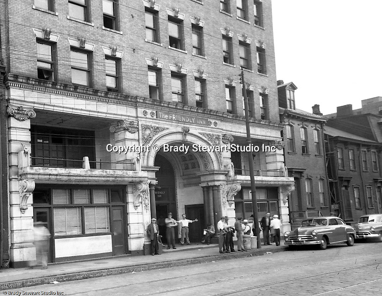 Pittsburgh PA:  View of Friendly Inn on Forbes Avenue near Duquesne University.  The assignment was for a developer trying to get some of the buildings condemned so he could get them at a good price for future development.
