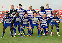 The FC Dallas starting eleven during an MLS game between the FC Dallas and the Toronto FC at BMO Field in Toronto on July 20, 2011..FC Dallas won 1-0.