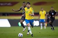 4th June 2021; Beira-Rio Stadium, Porto Alegre, Brazil; World Cup 2022 qualifiers; Brazil versus Ecuador; Lucas Paquetá of Brazil and Carlos Gruezo of Ecuador