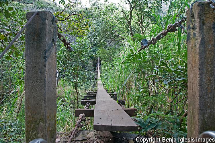 Second swinging bridge near Wailuku Town.Trekking around this area is really exceptional.