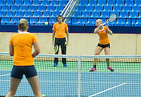 Moskou, Russia, Februari 3, 2016, Fed Cup Russia-Netherlands,  Practise Dutch team,  <br /> Photo: Tennisimages/Henk Koster
