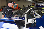Oct 11, 2008; 2:57:44 PM;  Concord, NC, USA; Nascar Sprint Cup Series garage area and tech inspection for the Bank of America 500  at Lowe's Motor Speedway. Mandatory Credit: Joey Millard