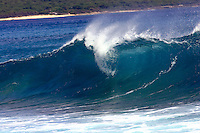 Breaking wave at surf spot called 2nd dip on the Leeward side of Oahu, Hawaii.