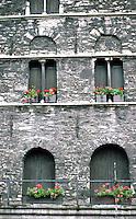 Ghent: 13th C. Granary--detail.  Photo '87.