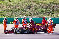 VETTEL Sebastian (ger), Scuderia Ferrari SF1000, action having a technical problem during the Formula 1 Pirelli Gran Premio Della Toscana Ferrari 1000, 2020 Tuscan Grand Prix, from September 11 to 13, 2020 on the Autodromo Internazionale del Mugello, in Scarperia e San Piero, near Florence, Italy  <br /> Mugello 13-09-2020 Formula 1 Gp Toscana<br /> Photo FLORENT GOODEN/DPPI/Panoramic/Insidefoto <br /> ITALY ONLY