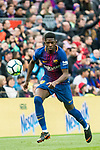 Ousmane Dembele of FC Barcelona in action during the La Liga 2017-18 match between FC Barcelona and Valencia CF at Camp Nou on 14 April 2018 in Barcelona, Spain. Photo by Vicens Gimenez / Power Sport Images