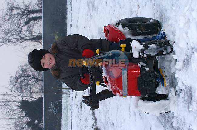 Shane Mc Donnell from Kelly enjoying the fun in the Snow that covered the town on Tuesday Morning..Photo Fran Caffrey Newsfile.ie..This Picture has been sent to you by Newsfile Ltd..The Studio,.Millmount Abbey,.Drogheda,.Co. Meath,.Ireland..Tel: +353(0)41-9871240.Fax: +353(0)41-9871260.ISDN: +353(0)41-9871010.www.newsfile.ie..general email: pictures@newsfile.ie