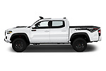 Car Driver side profile view of a 2020 Toyota Tacoma TRD-Pro 4 Door Pick-up Side View