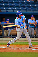 Tennessee Smokies third baseman Jeimer Candelario (9) at bat during a game against the Biloxi Shuckers at MGM Park on May 2, 2016 in Biloxi, Mississippi. (Derick E. Hingle/Four Seams Images)