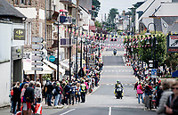 the crowds are back!<br /> ...waiting for the riders to roll through town<br /> <br /> Stage 2 from Perros-Guirec to Mûr-de-Bretagne, Guerlédan (184km)<br /> 108th Tour de France 2021 (2.UWT)<br /> <br /> ©kramon