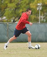 Kenny Cooper. U.S. Men's National Team training at RFK Stadium  Monday October 12, 2009  in Washington, D.C.