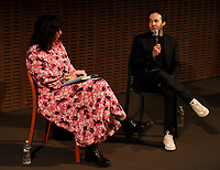 """NEW YORK CITY - OCTOBER 5: Executive Producer Danny Strong and moderator attend a WGA Screening of Hulu's """"DOPESICK"""" at the Museum of Modern Art on October 5, 2021 in New York City. . (Photo by Frank Micelotta/Hulu/PictureGroup)"""