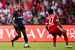 AC Milan Forward MBaye Niang (L) plays against Bayern Munich Defender David Alaba (R) during the 2017 International Champions Cup China  match between FC Bayern and AC Milan at Universiade Sports Centre Stadium on July 22, 2017 in Shenzhen, China. Photo by Marcio Rodrigo Machado / Power Sport Images