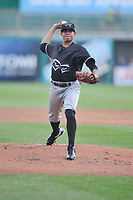 Quad Cities River Bandits starting pitcher Gabriel Baldez (11) throws during a game against the Wisconsin Timber Rattlers at Fox Cities Stadium on June 27, 2017 in Appleton, Wisconsin.  Wisconsin lost 6-5.  (Dennis Hubbard/Four Seam Images)