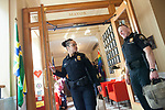 Portland Police Bureau Chief Danielle Outlaw departs the Mayor's office after meeting Mayor Ted Wheeler.<br /> Photo by Jaime Valdez<br /> <br /> <br /> 05/31/18