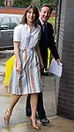 © Joel Goodman - 07973 332324 . 28/03/2015 . Manchester , UK . Samantha Cameron and Prime Minister David Cameron arrive at the Conservative Party Spring Forum at the Old Granada Studios , Quay Street , Manchester . Photo credit : Joel Goodman