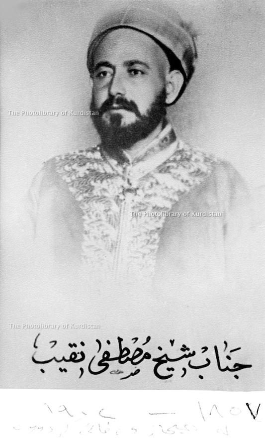 Iraq 1900.Sheikh Mustafa Naqib, uncle of sheikh Mahmoud, died in 1902 in Hejaz    .Irak 1900 .Sheikh Mustafa Naqib, oncle de Sheikh Mahmoud,mort en 1902 dans le Hejaz