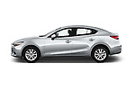 Car Driver side profile view of a 2018 Mazda Mazda3 Sport 4 Door Sedan Side View