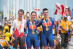 MILTON, ON, AUGUST 13, 2015. Cycling time trials, including Canadian Silver Medalist Shelley Gautier (Mixed T1-T2)<br /> Photo: Dan Galbraith/Canadian Paralympic Committee