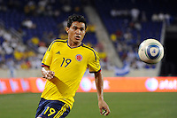 Teofilo Gutierrez (19) of Colombia. The men's national teams of Colombia (COL) defeated Honduras (HON) 2-0 during an international friendly at Red Bull Arena in Harrison, NJ, on September 03, 2011.