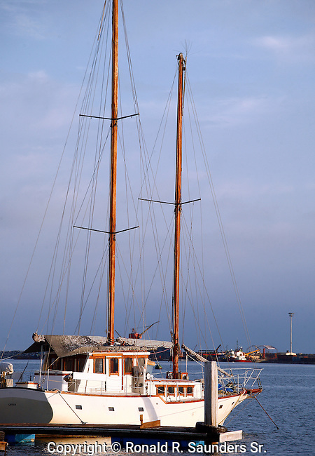 SAILBOAT DOCKED at ENSENADA PIER