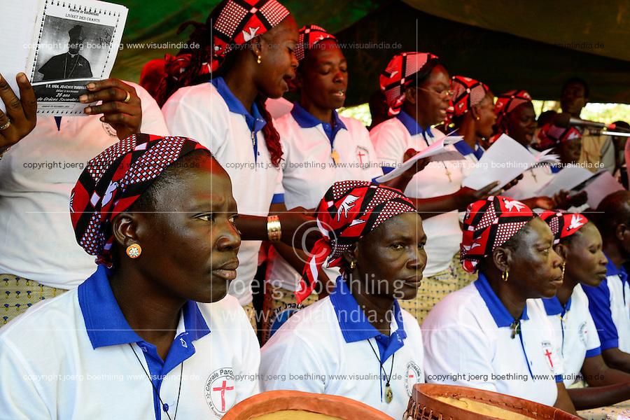 BURKINA FASO , Koudougou, catholic church, holy mass at cathedral, women choir