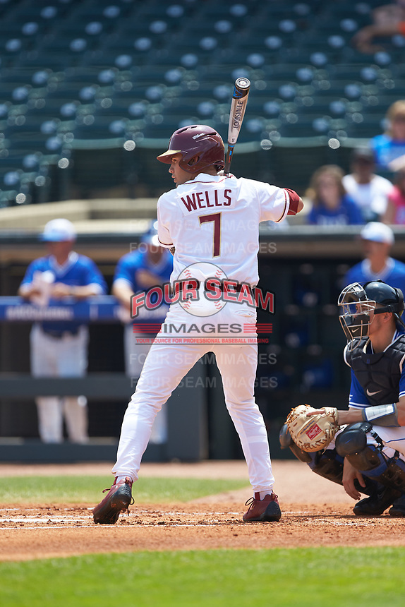 Steven Wells, Jr. (7) of the Florida State Seminoles at bat against the Duke Blue Devils in the first semifinal of the 2017 ACC Baseball Championship at Louisville Slugger Field on May 27, 2017 in Louisville, Kentucky. The Seminoles defeated the Blue Devils 5-1. (Brian Westerholt/Four Seam Images)