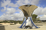 Jerusalem, Israel Museum, Turning The World Upside Down, Stainless Steel, By Anish Kapoor