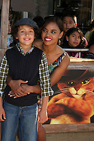 """LOS ANGELES - OCT 23:  Sharon Leal, son.    """"Puss In Boots"""" Los Angeles Premiere.    Sharon Leal arriving at the """"Puss In Boots"""" Premiere at the Regency Village Theater on October 23, 2011 in Westwood, CA"""