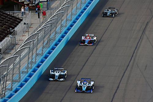 Takuma Sato, Rahal Letterman Lanigan Racing Honda, Max Chilton, Carlin Chevrolet, Matheus Leist, A.J. Foyt Enterprises Chevrolet