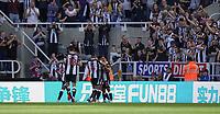 28th August 2021; St James Park, Newcastle upon Tyne, England; EPL Premier League football, Newcastle United versus Southampton; Callum Wilson of Newcastle United celebrates making it 1-0