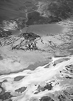 aerial photograph of Furnace Creek, Death Valley National Park, northern Mojave Desert, California