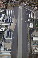 aerial photograph of Santa Monica Municipal Airport (SMO) Santa Monica, Los Angeles County, California