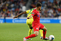 St. Paul, MN - Tuesday June 18, 2019: Cristian Roldan of the United States during a 2019 CONCACAF Gold Cup group D match between the United States and Guyana on June 18, 2019 at Allianz Field in Saint Paul, Minnesota.