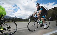2013 Giro d'Italia.stage 11.Tarvisio - Vajont: 182km..Salvatore Puccio (ITA) sprinting up the final meters of the Sella Ciampigotto (1790m)..