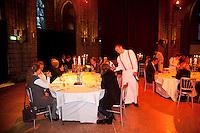 04-04-12, Netherlands, Amsterdam, Tennis, Daviscup, Netherlands-Rumania, Dinner,