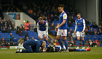 Ipswich Town's Trevoh Chalobah recieving treatment<br /> <br /> Photographer Hannah Fountain/CameraSport<br /> <br /> The EFL Sky Bet Championship - Ipswich Town v Stoke City - Saturday 16th February 2019 - Portman Road - Ipswich<br /> <br /> World Copyright © 2019 CameraSport. All rights reserved. 43 Linden Ave. Countesthorpe. Leicester. England. LE8 5PG - Tel: +44 (0) 116 277 4147 - admin@camerasport.com - www.camerasport.com