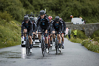 Tiesj Benoot (BEL/DSM) & teammates up the Cormet de Roselend<br /> <br /> Stage 9 from Cluses to Tignes (144.9km)<br /> 108th Tour de France 2021 (2.UWT)<br /> <br /> ©kramon