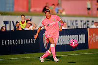 Brittany Taylor (14) of Sky Blue FC. The Western New York Flash defeated Sky Blue FC 2-0 during a Women's Professional Soccer (WPS) match at Yurcak Field in Piscataway, NJ, on July 17, 2011.