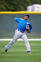 Toronto Blue Jays Rodrigo Orozco (52) during practice before a minor league Spring Training game against the Pittsburgh Pirates on March 24, 2016 at Pirate City in Bradenton, Florida.  (Mike Janes/Four Seam Images)