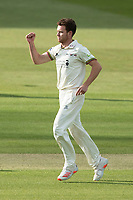 Ryan Higgins, Gloucestershire CCC celebrate trapping Sam Robson LBW during Middlesex CCC vs Gloucestershire CCC, LV Insurance County Championship Group 2 Cricket at Lord's Cricket Ground on 7th May 2021