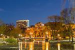 Winter lights in the Boston Public Garden, Boston, Massachusetts, USA