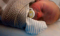 Pictured: Baby Brogan, taken from open social media account.<br /> Re: Jason Thomas and girlfriend Naomi Carter have died and a baby has been taken to hospital after the car they were travelling in crashed into a lamp-post in the Swansea Valley, Wales, UK.<br /> South Wales Police was called to Swansea Road, Trebanos, in the county of Neath Port Talbot at about 3:15am of Saturday.<br /> The 23-year-old male driver and a female passenger, 18, were killed. 11-month-old baby Brogan was taken to hospital with non life-threatening injuries.<br /> Police have appealed for witnesses.