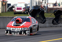 Oct 6, 2013; Mohnton, PA, USA; NHRA pro stock driver V. Gaines during the Auto Plus Nationals at Maple Grove Raceway. Mandatory Credit: Mark J. Rebilas-