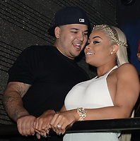 MIAMI, FL - MAY 11: Birthday girl and Expectant mother Blac Chyna (Born May 11, 1988 - age 28) showed off her baby bump in a white hot jump suit as she and fiancé Rob Kardashian celebrate her birthday at G5ive Strip Club on May 11, 2016 in Miami, Florida.<br /> <br /> <br /> People:  Blac Chyna, Rob Kardashian
