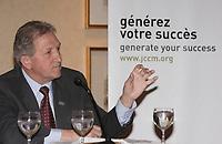 Montreal (QC) CANADA, January 18, 2008 - <br /> <br /> Marcel Boyer, Chief Economist, Montreal Economic INstitute (Institut Economique de Montreal) speak at <br /> Perspective 2008, organized by the Jeune Chambre de Commerce de Montreal.